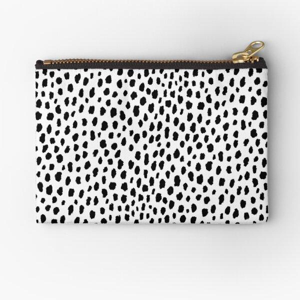 Dalmatian Spots (black/white) Zipper Pouch