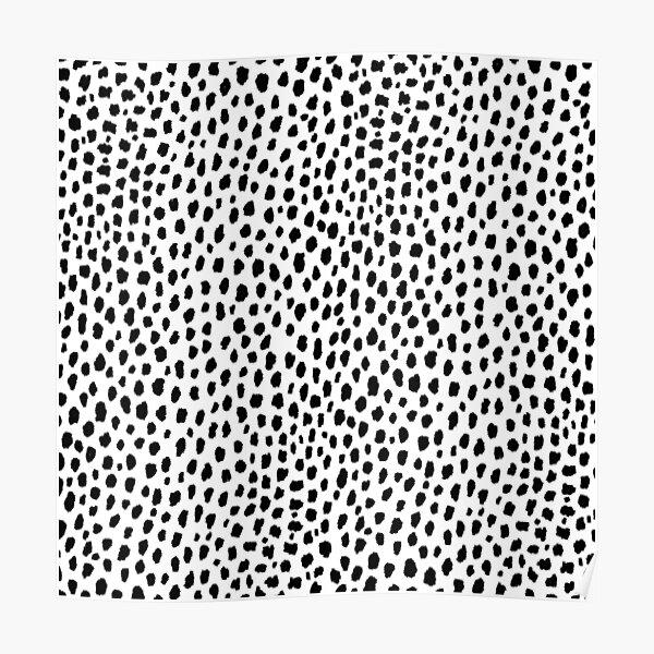 Dalmatian Spots (black/white) Poster