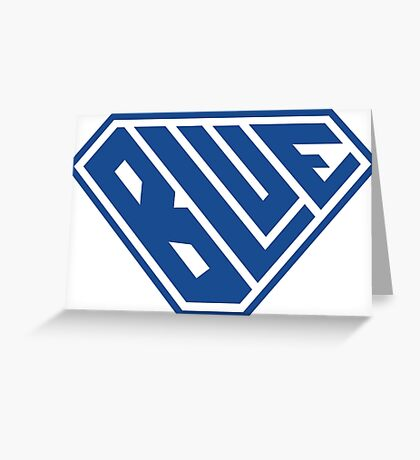 Blue SuperEmpowered (Blue) Greeting Card