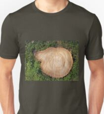 Fresh cut tree stump Unisex T-Shirt