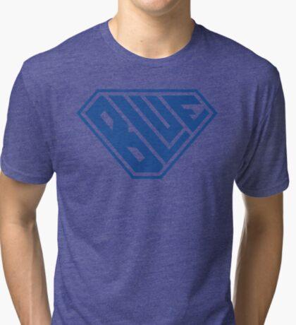 Blue SuperEmpowered (Blue) Tri-blend T-Shirt