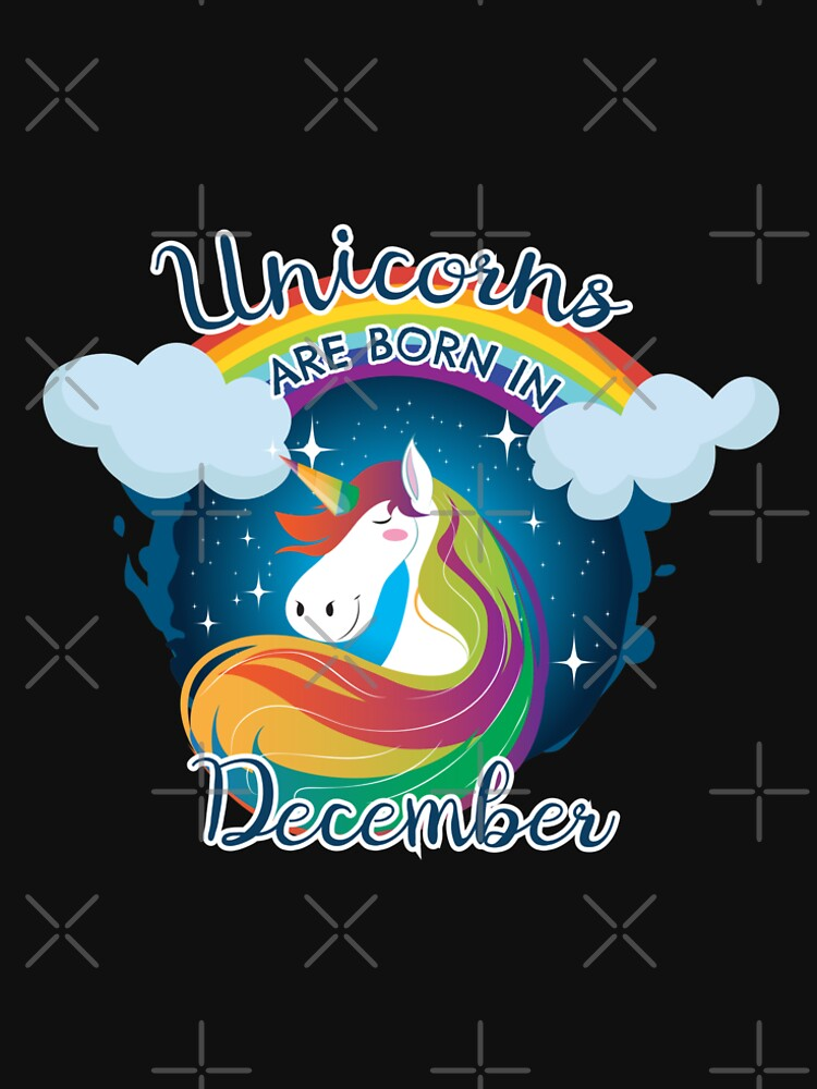 Unicorns are born in December / Einhorn by JH-Design