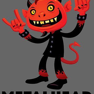 Heavy Metal Devil Metalhead by fizzgig