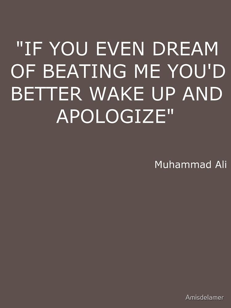 TShirtGifter presents: Muhammad Ali Boxing Quote | Unisex T-Shirt