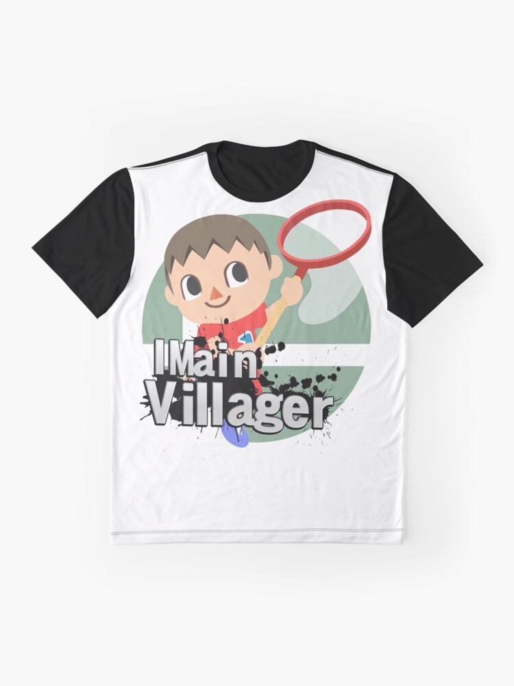 027a65f4 I Main Villager - Super Smash Bros. Ultimate Graphic T-Shirt Front.  product-preview