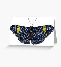 Red Cracker Butterfly Greeting Card