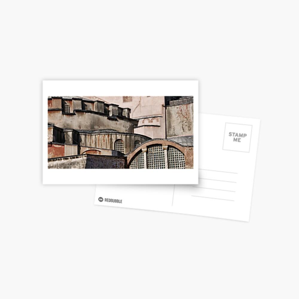 Roofs at Hagia Sophia: Istanbul, Turkey Postcard
