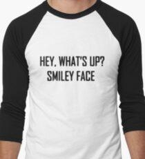 Hey, What's up? Smileyface Men's Baseball ¾ T-Shirt