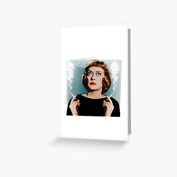 Bette Smoking Greeting Card