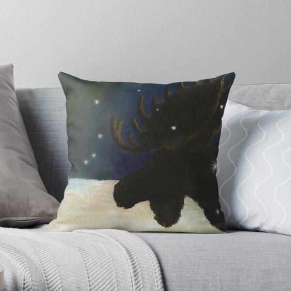 Dawn Patrol_Moose Throw Pillow