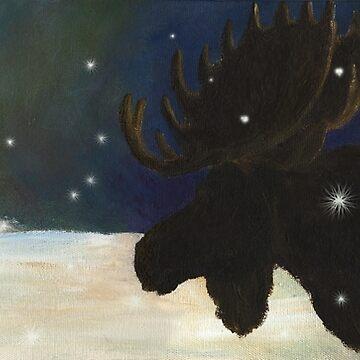 Dawn Patrol_Moose by salamandaz
