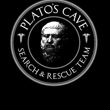 Platos cave rescue team - Philosophy Gift by The-Nerd-Shirt