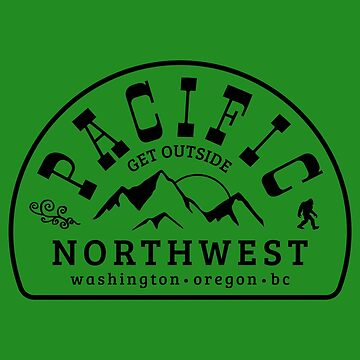 Pacific Northwest Get Outside Cascadia PNW by ThreadsNouveau