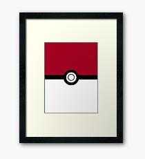 Pokeball 2D Design Framed Print
