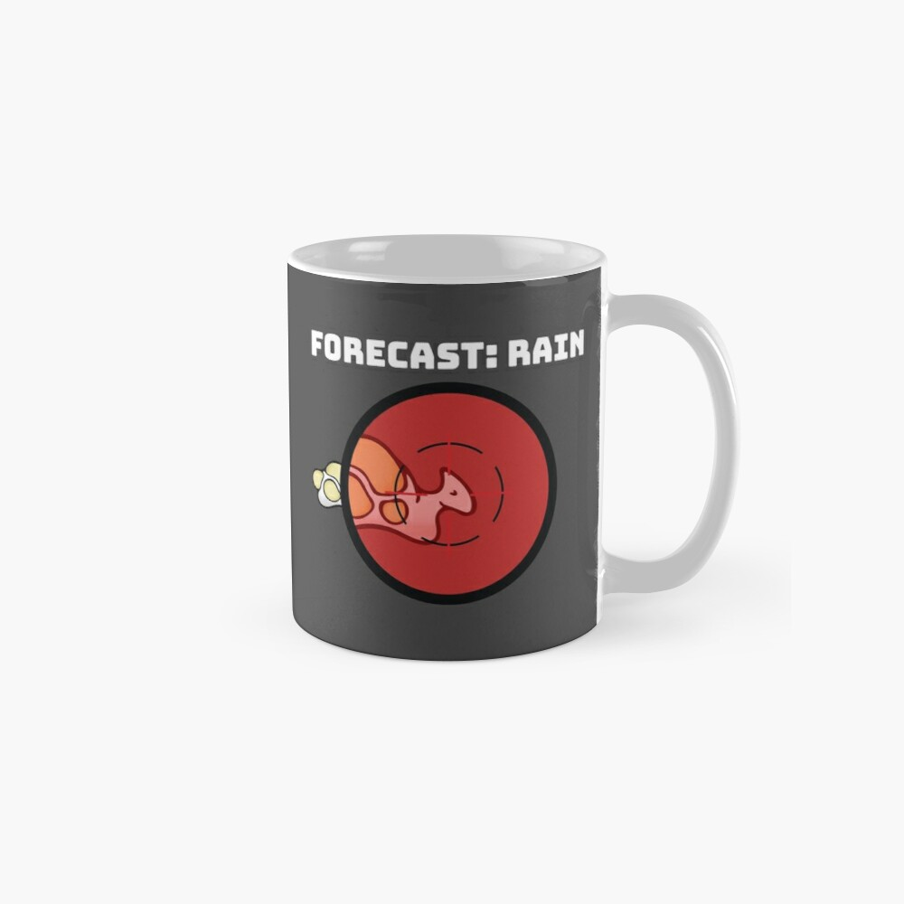 Rimworld Gaming Hunting Boomalope Forecast: Rain funny meme indie online  video game HD HIGH QUALITY ONLINE STORE | Mug