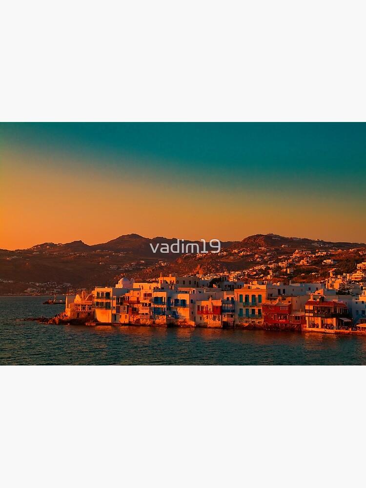 Greece. Mykonos. Little Venice at sunset. by vadim19