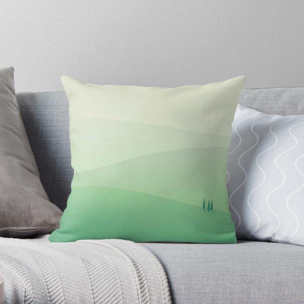 Hills // Minimal landscapes Throw Pillow
