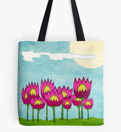 Paper Purple Flowers from Frenchtoastygood Tote Bag