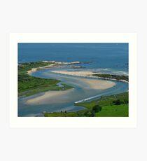 Where Narragansett Beach Ends Narrow River Begins Art Print