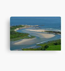 Where Narragansett Beach Ends Narrow River Begins Canvas Print