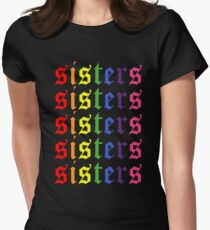 James Charles Sisters Artistry Logo Repeating Women's Fitted T-Shirt