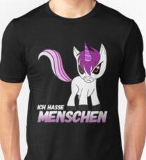 Ich hasse menschen Unisex T-Shirt