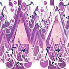 Purple Mountain Biking by Lorloves Design by LorlovesDesign