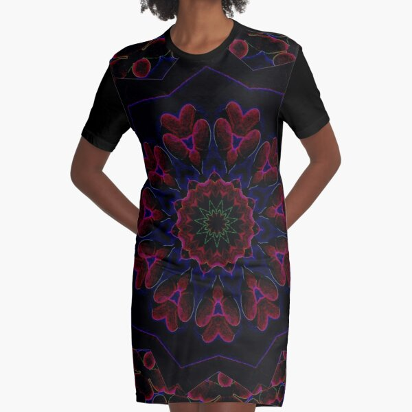 Post Alien Luminance Pedals Design Offering From Green Bee Mee  Graphic T-Shirt Dress