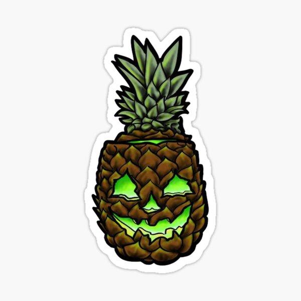 pineapple jackolantern hawaiian halloween Sticker