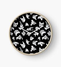They're All Good Dogs Black and White Clock