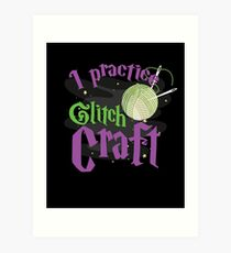 Awesome Craft Crafter Gifts Yarn Quilt Crochet Knit Art Print