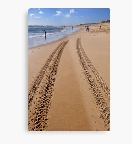 Tracks in the sand Metal Print