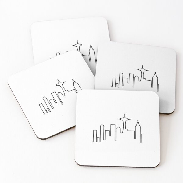 Frasier - Seattle Silhouette Coasters (Set of 4)