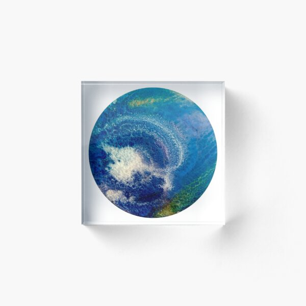 Pale Blue Dot Acrylic Block