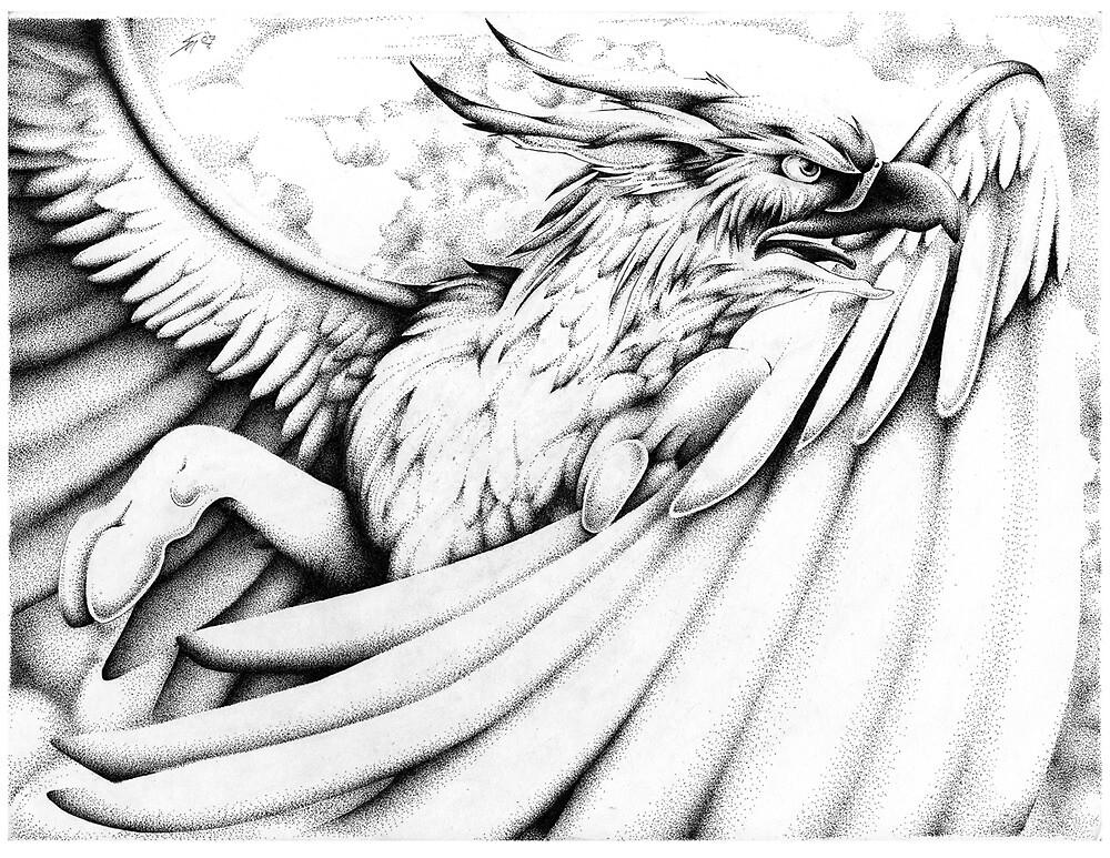 Stipple Gryph by Sarah McNulty