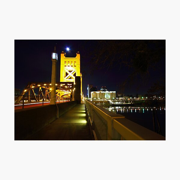 Sacramento CA at night 2 Photographic Print