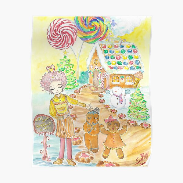 Gingerbread Cafe 1 (watercolor) Poster