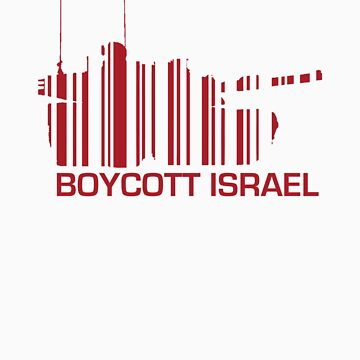 Boycott Israel (tank version)_RED by vrangnarr