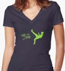 DARE TO ZLATAN Women's Fitted V-Neck T-Shirt