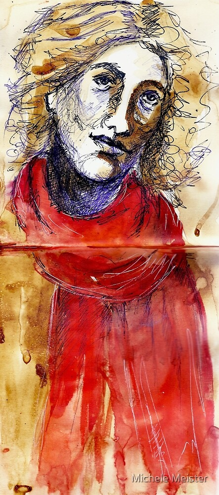 Red Scarf by Michele Meister