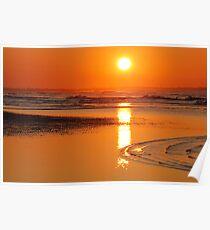 Sunset in Zeeland Poster