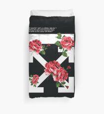 Weg von den weißen gebrochenen Rosen hypebeast Fanmade Grafik Bettbezug
