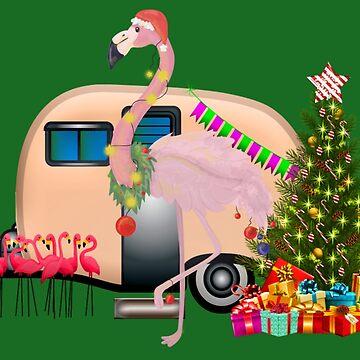 santa claus flamingo by gossiprag