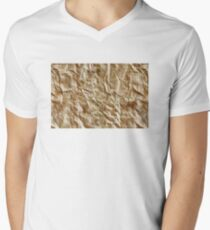 Paper texture Men's V-Neck T-Shirt