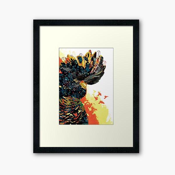 Torquay Black Cockatoo Framed Art Print
