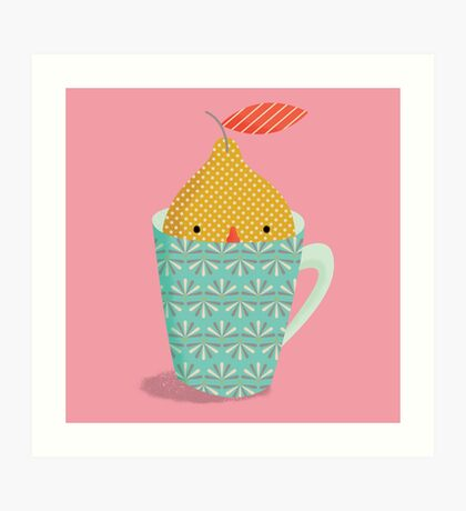 lemon in a cup Art Print