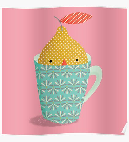 lemon in a cup Poster
