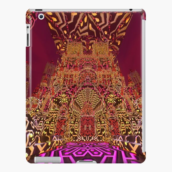Kaleidoscopic Highway - Neon Cathedral (Orange) iPad Snap Case
