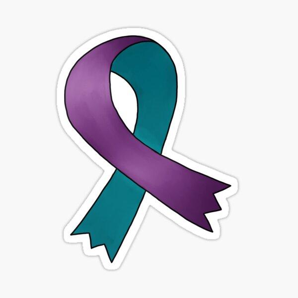 Domestic Violence/Intimate Partner Violence Awareness Ribbon Sticker