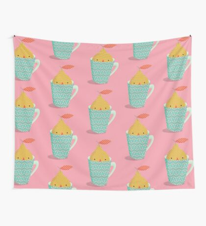 lemon in a cup Wall Tapestry